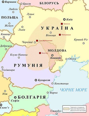 7,6-8,5 тысяч лет назад произошли два взаимосвязанных события, давших начало развитию Трипольской цивилизации на равнинах современной правобережной Украины, а также Румынии и Молдовы