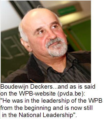 Член Политического бюро Партии труда Бельгии (ПТБ) Бодуэн Деккерс