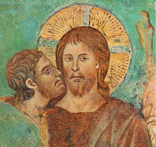 Искариотом движет никто иной, как Святой Дух, который вошел в него при причащении. Через поцелуй Иуды Святой Дух возвращается в Христа