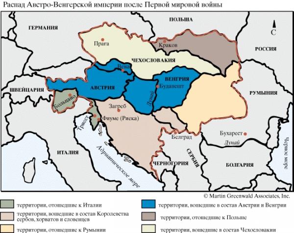 Трианонский договор раскромсал Венгрию: она лишилась 72% территории и 64% населения (в том числе 3 миллионов этнических венгров), выхода к морю и флота, 88% лесных ресурсов, 83% производства чугуна
