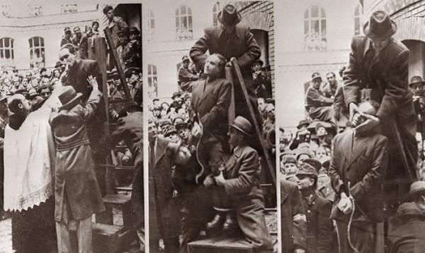12 марта 1946-го Салаши и других видных нилашистов (от Nyilaskeresztes párt, то есть партия «Скрещённые стрелы» по-венгерски) повесят за венгерский холокост