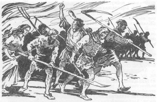 Характер этих бунтов был почти везде один и тот же. Вооружённые вилами, косами, дубинами крестьяне сбегались в город и там заставляли землевладельцев и фермеров, привезших на рынок хлеб, продавать его по известной «честной» цене