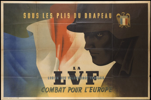 "Пропагандистский плакат ЛФД: ""Под флагом Легиона"""