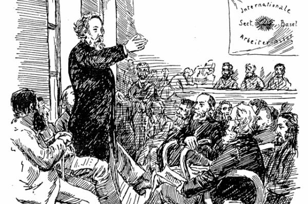 Михаил Александрович Бакунин считал, что борьба за политические свободы отвлекает трудящихся от борьбы за коренное изменение общества