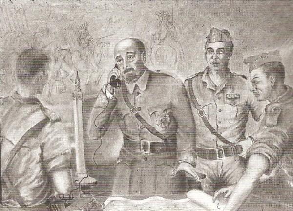 Коменданту Алькасара полковнику Москардо позвонил командир осаждающих крепость красных отрядов. Он потребовал от Москардо сдачи Алькасара, пригрозив в случае отказа расстрелять находившегося в их руках его сына