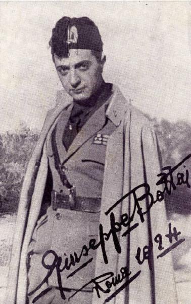 Джузеппе Боттаи (1895 — 1959) — один из основателей и руководителей фашистского движения в Италии, теоретик фашистского корпоративизма