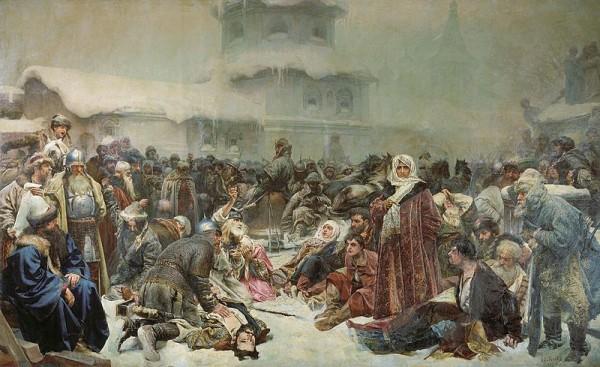 К. В. Лебедев. «Марфа Посадница. Уничтожение новгородского веча»