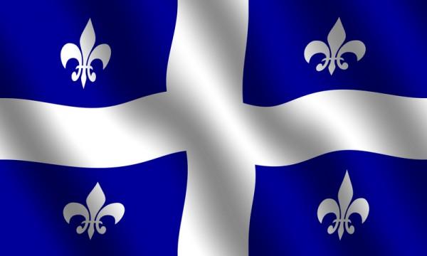 Флаг Квебека (известный под неофициальным названием фр. Fleurdelisé) был принят 21 января 1948 года, при администрации Мориса Дюплесси. Представляет собой синее прямоугольное полотнище с белым прямым крестом. В каждом синем прямоугольнике изображена королевская геральдическая лилия (флёр-де-лис)