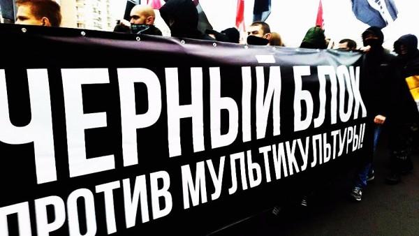 В Люблино собрались националисты в основном радикально-оппозиционного толка – Чёрный блок, Непримиримая лига, Русский объединённый национальный альянс (РОНА)