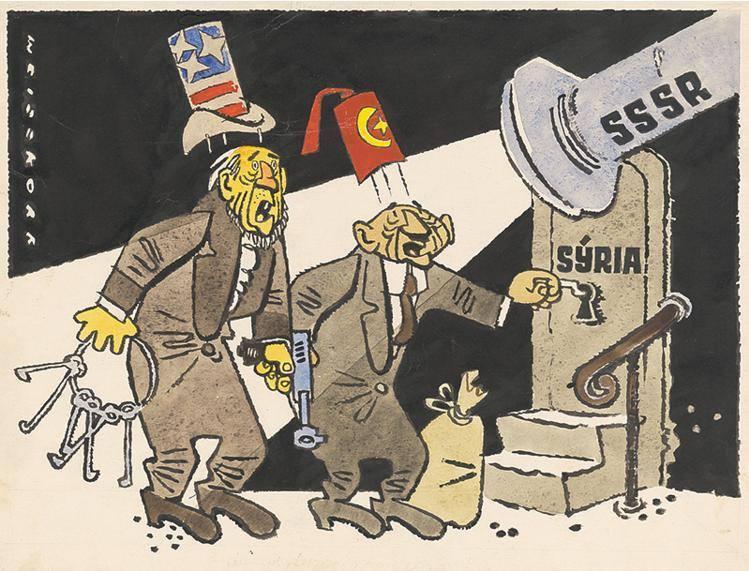 Советская карикатура 1958 года. Российские СМИ недалеко ушли от советского агитпропа. Более того: они хуже советского агитпропа