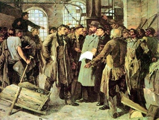 В начале ХХ века темп жизни России определялся ритмом мира работы. И это не могло не сказаться на сознании русских рабочих людей. Они начинали осознавать свою значимость для новой, индустриальной, России