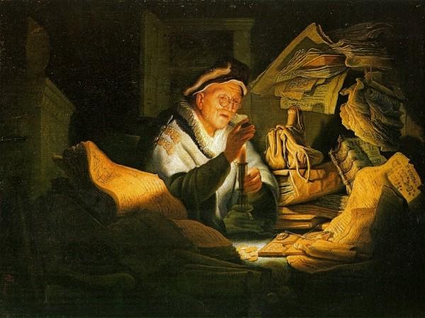 """современная экономика основана именно на ссудном проценте / Картина Рембрандта (1606-1669) """"Ростовщик"""""""