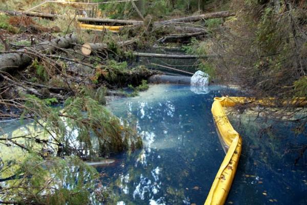 Разлив нефтепродуктов в Ленинградской области