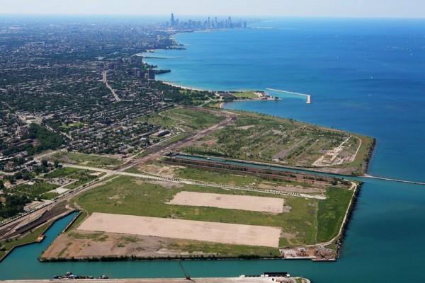 """Пустырь на месте могучего комбината компании """"ЮС Стил"""" в южном Чикаго"""