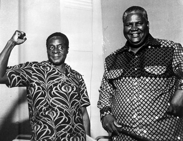 Роберт Мугабе и Джошуа Нкомо