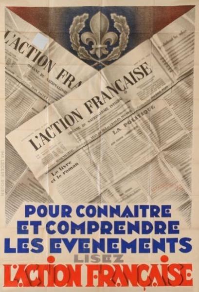 """Одним из самых знаменитых и долговечных политбрендов ХХ века — """"Action française""""(«Французское действие»)"""