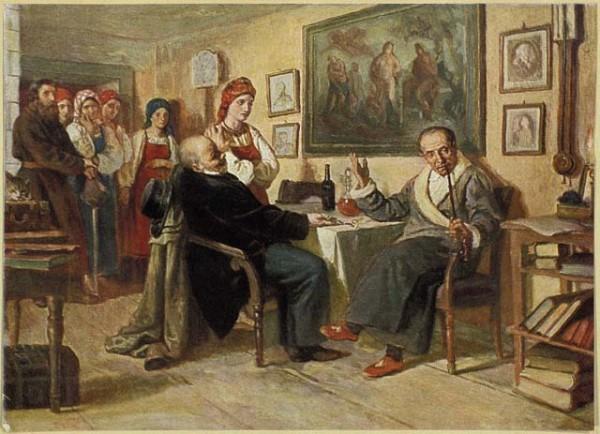 Полное развитие крепостного права и совершенное обращение крестьян и вообще крепостных людей в безграничную, безгласную частную собственность последовало при Петре III-м и Екатерине II-й