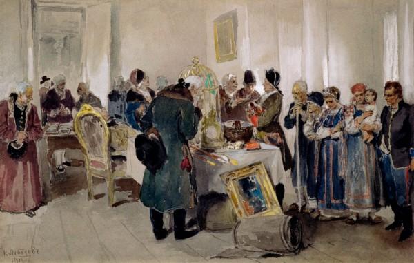настоящий человеческий рынок в Российской империи сложился лишь после кончины дщери Петровой - Елизаветы Петровны