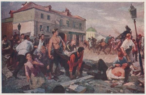 7 (20) мая 1901 года, в Санкт-Петербурге русские рабочие впервые в российской истории дали открытый бой вооружённым силам государства: армии и полиции