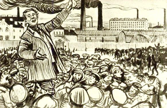 """Соберётся толпа человек во сто. """"Ребята! Идём на Петербургскую! Мы все тут стоим, стоит весь Обводный, а те работают!"""" — говорит какой-нибудь оратор"""