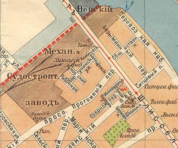 Невский механический завод (Семянниковский) на карте Невской заставы
