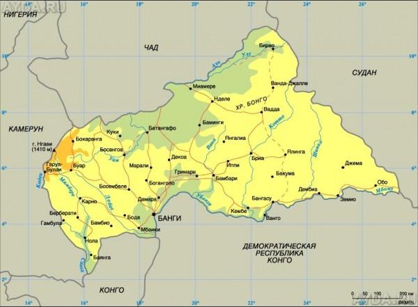 ЦАР, не имеющая, как известно, выхода к морю, осуществляет поставки своих продуктов и товаров на экспорт, используя прежде всего речную связь между Банги и столицей Республики Конго - городом Браззавилем