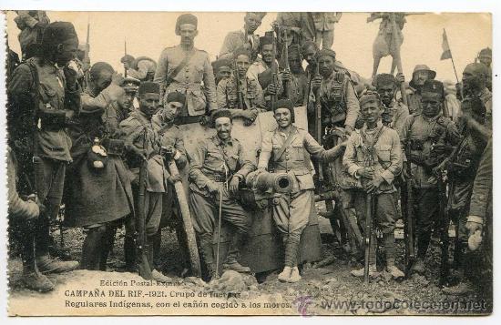 Регуларес (Fuerzas Regulares Indígenas — регулярные туземные силы) были набраны среди мусульман испанской части северного Марокко