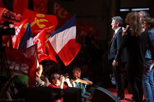 На выборах 2012 года Жан-Люк Меланшон занял почётное четвёртое место с 11,1% голосов в первом туре / ©Francois Lafite/Wostok Press France, Lille 27. 03. 2012