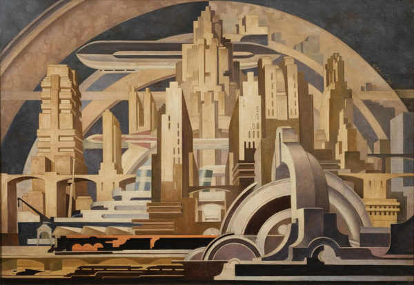 """Благодаря трудам социологов, биологов, философов, экономистов и писателей-фантастов создаётся образ города будущего, который становится материальным буквально на наших глазах / Картина Туллио Крали """"Архитектура"""""""