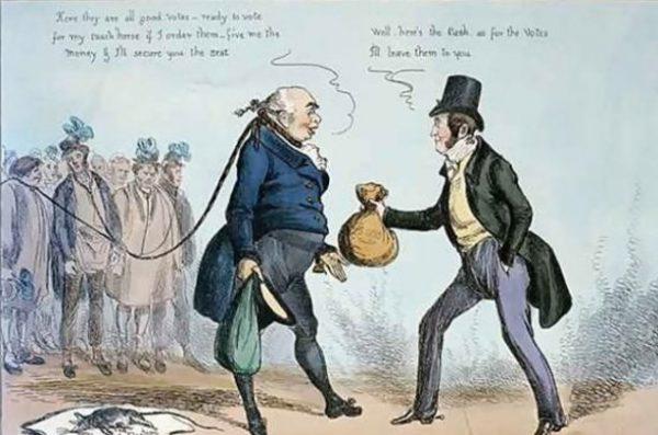 Гнилые местечки - первоначально так в Великобритании XVII-XIX веках называли почти полностью покинутые людьми города и деревни, которые, тем не менее, имели представительство в парламенте