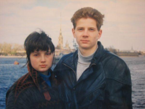 Надежда Тихонова с братом Владимиром