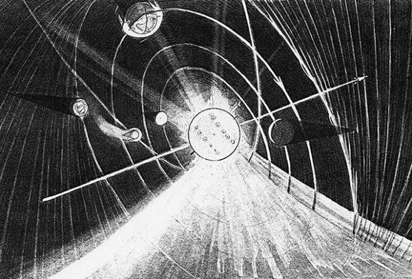 Солнечная система согласно доктрине вечного льда / Изображение: Technisches Museum Wien