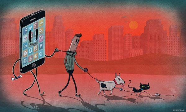 Весь контент, любой, будь то картинки, текст или видео, пролистывается одним пальцем, очень быстро, во время просмотра телевизора или разговора по телефону