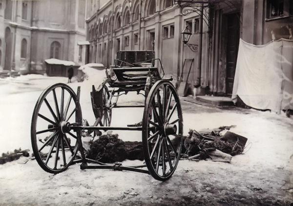 Карета великого князя Сергея Александровича, разрушенная взрывом