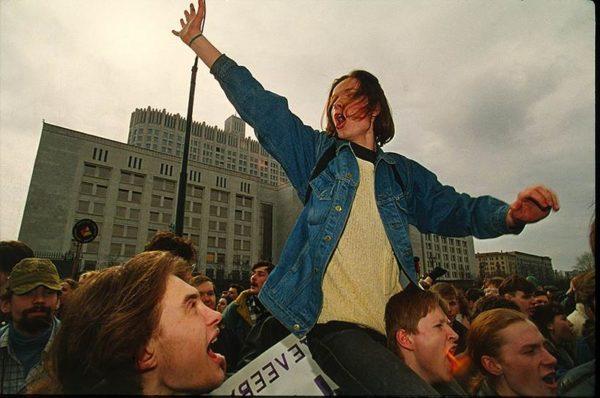 """Акция профсоюза """"Студенческая защита"""" в Москве против коммерциализации высшего образования"""