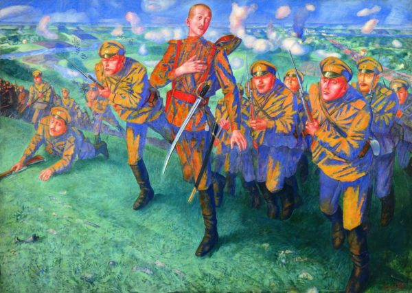 Картины In_the_Line_of_Fire_Kuzma_Petrov-Vodkin-600x426